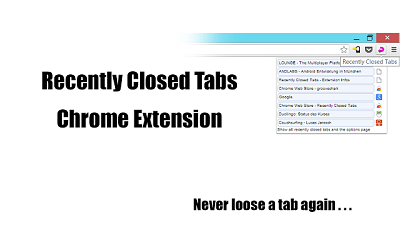 resently closed tabs